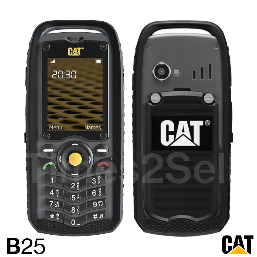 Caterpillar Cat B25 Black Unlocked GSM Cellular Phone Milita