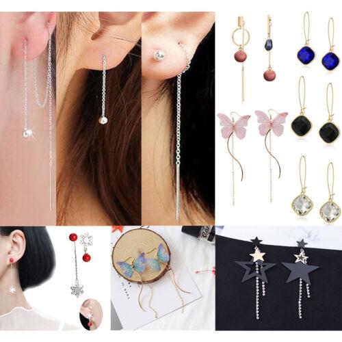 Earrings - Fashion New Women Bling Ball Earrings Long Chain Drop Dangle Earrings Jewelry