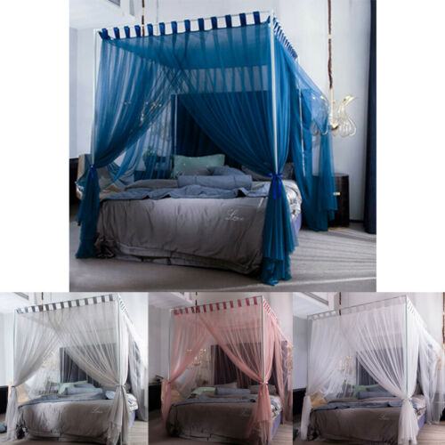 4 Corners Post Curtain Bed Canopy Bed Frame Canopies Net Twi