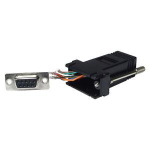 Serial-RS232-DB9-9-Pin-Female-to-RJ45-Female-Adaptor