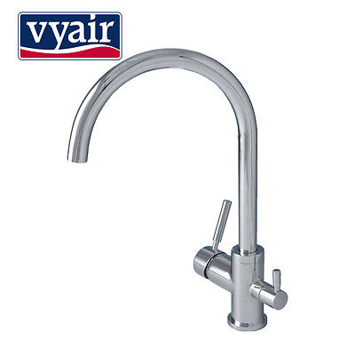 VYAIR 13306 Chrome Triflow Three-Way Kitchen Tap for Hot, Cold & Filtered Water