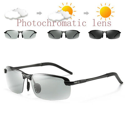 Mens Sunglasses Polarized Lens Transition Photochromatic Fashion Driving (Polarised Transition Lenses)