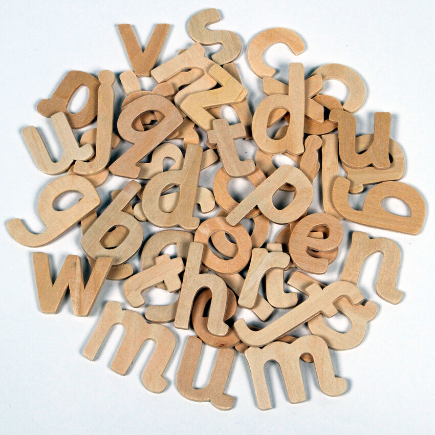 60 wooden letters alphabet lower case school educational for Wooden letters for crafts
