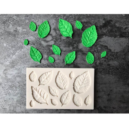Rose Leaves Silicone Fondant Mould Cake Decor Sugar Chocolate Mold DIY