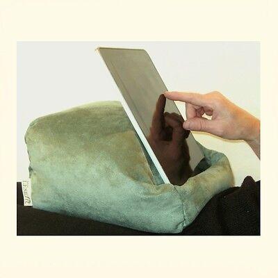 LESEfit Tablet Kissen Pillow Unterlage Ständer iPad Kissen, e-reader in grün (Tablet-kissen)