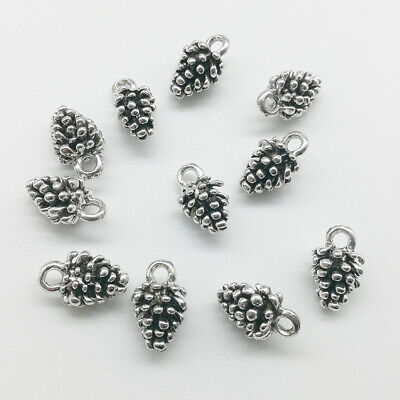 Wholesale Pinecone Antique Silver Charms Pendants Jewelry DIY 13*8mm 20/80pcs](Pinecone Jewelry)