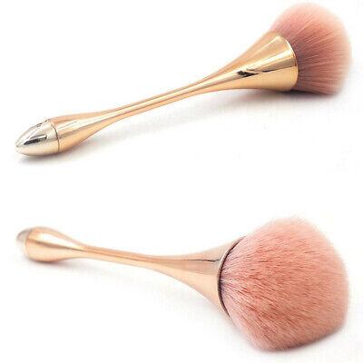 Rose Gold Powder Blush Big Professional Make Up Wool Hair Brush Cosmetic Tool