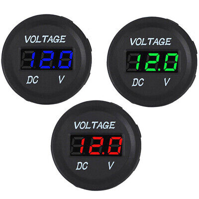 Car Motorcycle Boat Dc 12-24v Dual Led Digital Voltmeter Ammeter Amp Volt Meter