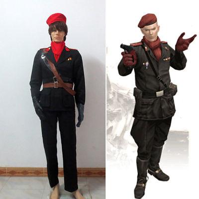 Hot! Metal Gear Revolver Ocelot Shalashaska Adamska Adam Cosplay Costume GG.606