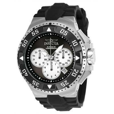 Day Date Chronograph - Invicta Excursion 23045 Men's Round Black Chronograph Date Analog Silicone Watch