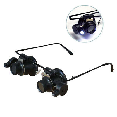 Illuminated Eye Glass Frame Loupe 10X Hand Free Jewelry Gem Magnifier Magnifying for sale  Miami