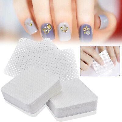 100pcs Lint Free Nail Art Gel Polish Remover Cotton Pad Nail Wipe Dustless Cloth