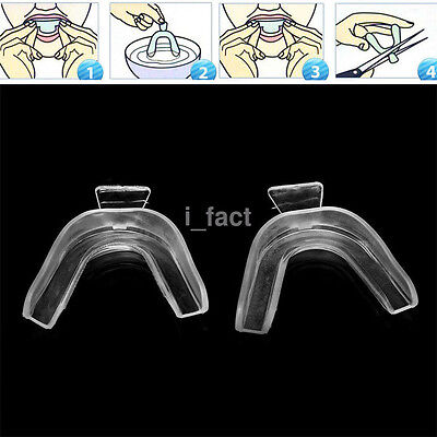2X Transparent Thermoforming Mouth Whitening Trays Dental Teeth Dental Equipment