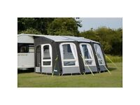 Kampa air awning used only 3 times. Includes ground sheet and electric pump. Collection only.