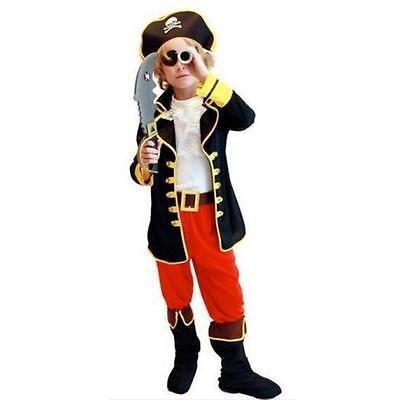 Cutthroat Pirate Caribbean Fancy Dress Costume Child Kids Boys Girl