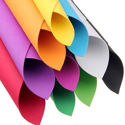 10 Pcs DIY A4 EVA Foam Paper Thick Multicolor Sponge Sheets Kids Handmade Craft ()