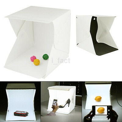 Mini Folding Studio Softbox With LED Light Background Photo Studio Accessories