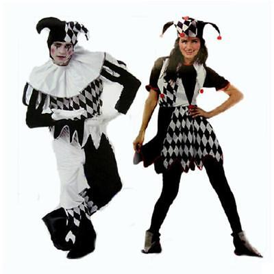 Scary Dresses For Halloween (Halloween Jester Costume Idea for Couples Costume Adult Clown Fancy Dress)