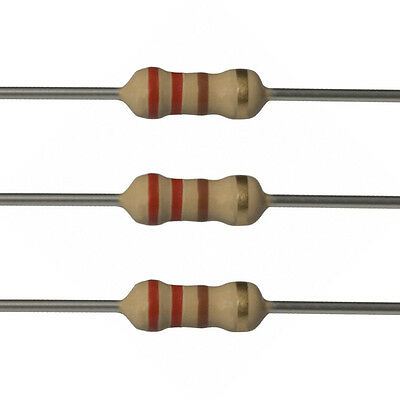 100 X 220 Ohm Carbon Film Resistors - 14 Watt - 5 - 220r - Fast Usa Shipping