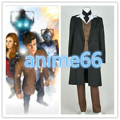 Doctor Who 8th Dr Paul McGann Cosplay Costume Suit Outfit Halloween Costume F615 - Doctor Who Halloween Outfit