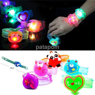 1pc Flash LED Light Glow Bracelet Kids Costumes Toy Birthday Halloween Xmas Gift](Cheap Halloween Jewelry)