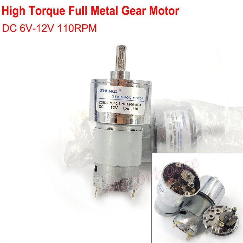 Full Metal High Torque Turbo Gear Motor Reversible DC Deceleration Motor DC 12V