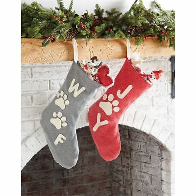 Mud Pie Christmas Stockings  Washed Canvas Pet