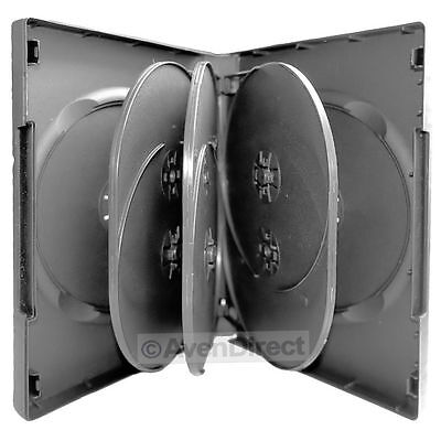 1 Pack New Black DVD Case Hold 8 Discs With Tray 27mm [FAST FREE covid 19 (27mm 8 Disc Black Dvd coronavirus)