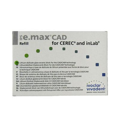 Ivoclar Vivadent Ips E.max Cad Cerec Mt A2 C14 5 Blocks Emax