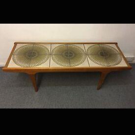 Large G Plan Retro Tile Topped Teak Coffee Table