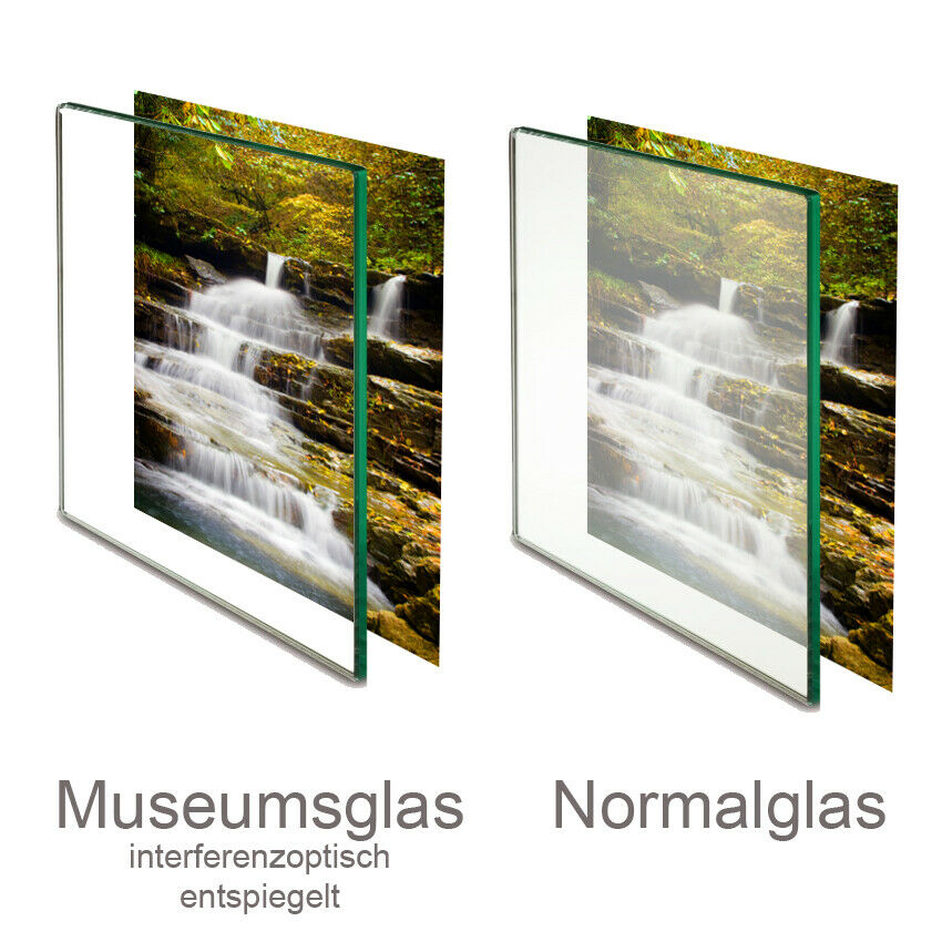 Museumsglas Glas entspiegelt Bilderglas für Bilderrahmen 45/% oder 92/% UV Schutz