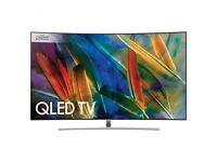 """SAMSUNG QE55Q8CAMTXXU CURVED 55"""" QLED 4K UHD HDR 1500 PREMIUM SMART Q8C TV"""