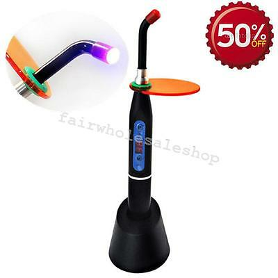 Usa Black Dental Wireless Cordless Led Curing Light Lamp 2000mw 10w Denshine