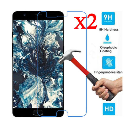 2X Premium Real Tempered Glass Protective Film Screen Protector For Oneplus5 3 2