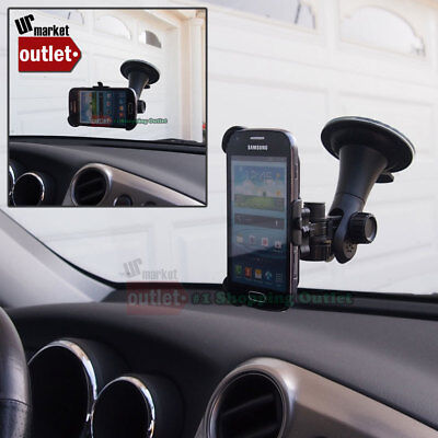Car Windshield Mobile Phone Long Mount Holder Fit Samsung Galaxy S Duos S7562, used for sale  Shipping to India