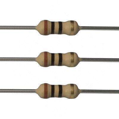 100 X 10 Ohm Carbon Film Resistors - 14 Watt - 5 - 10r - Fast Usa Shipping
