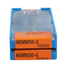 10pcs KORLOY MGMN250-G PC9030 Carbide Inserts