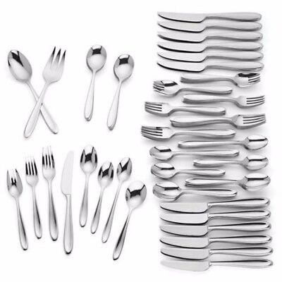 Lenox Barnaby 110-Piece 18/10 Stainless Steel Flatware Set Service for 12 New