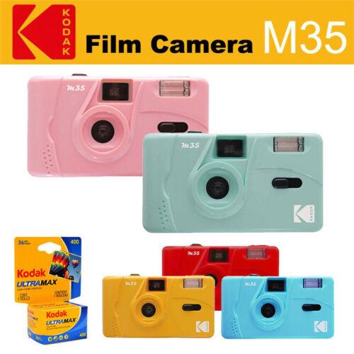 как выглядит Kodak Vintage retro M35 35mm Reusable Flash Film Camera Kodak UltraMax 400 Film фото