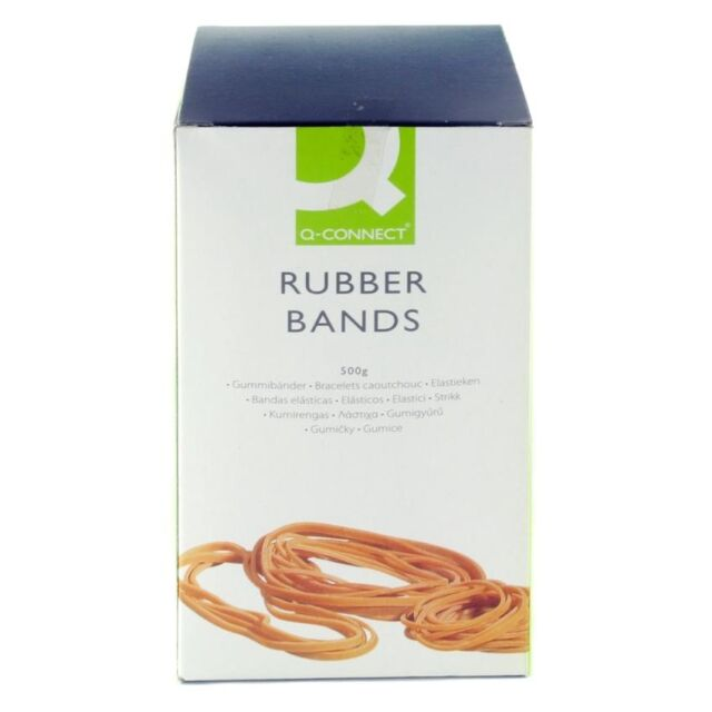 Q-CONNECT ELASTIC BANDS / RUBBER BANDS LARGE 500g BOX - CHOOSE SIZE AND QUANTITY