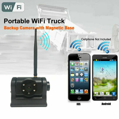 wifi app magnetic rechargeable reverse backup camera