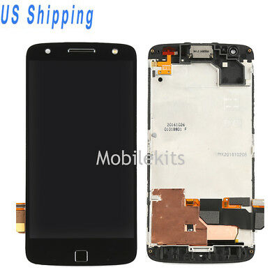 For Motorola Moto Z Force XT1650-02 LCD Camouflage Touch Digitizer With Frame USA