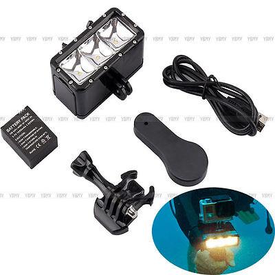 30M Wasserdicht Tauchen LED Leuchte Licht Videoleuchte für GoPro 1 2 3 3+ AL 03