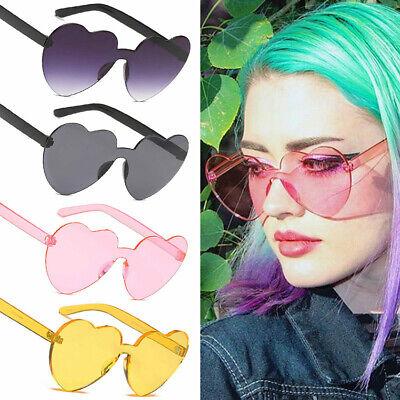 Women Sunglasses Love Heart Shape Frame Trendy Candy Colors Sun Glasses (Trendy Glasses)