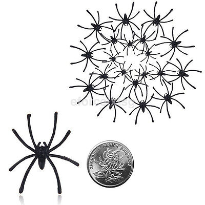 20pcs/Bag Halloween Fake Spider Joking Toys Party Decor Prop Insects Bugs Decor - Halloween Fake Bugs
