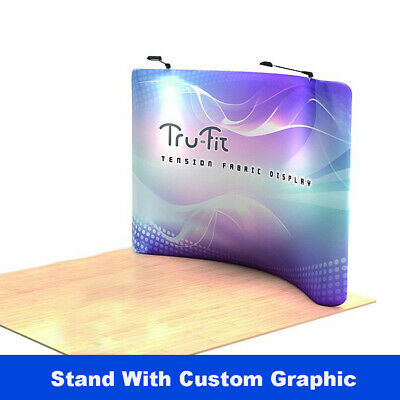 10ft Curved Custom Trade Show Display Back Wall Pop Up Stand Booth