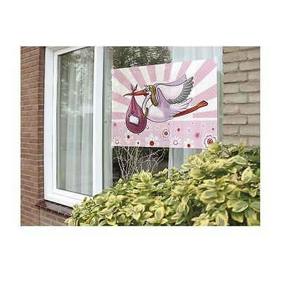 Fahne rosa Geburt Mädchen girl Überaschungs Pinkel party Dekoration zu Hause NEU