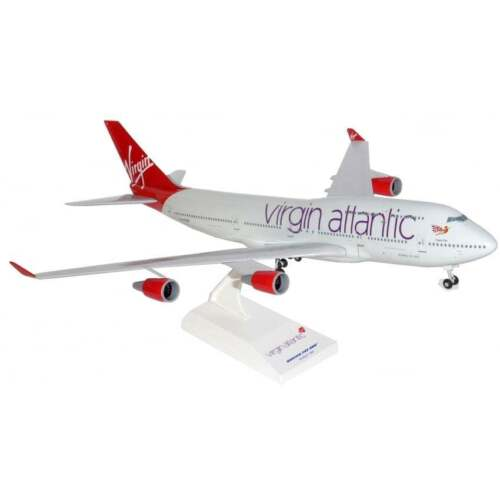Skymarks SKR672 Virgin Atlantic Boeing 747-400 Desk Top Jet Model 1/200 Airplane