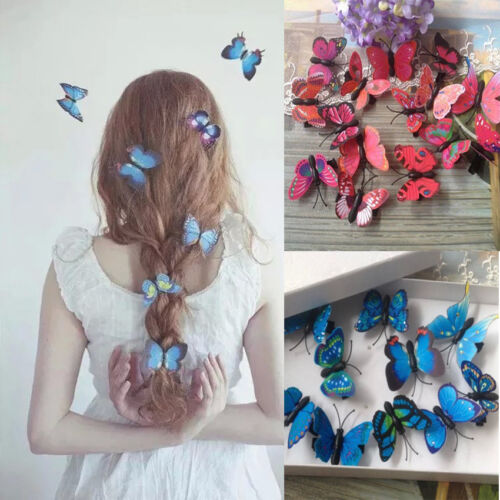 Hot Lady Girls Butterfly Hair Clips Hair Accessories Wedding Photography Costume