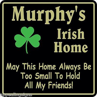 Irish Home Decor (Personalized Irish Pub Bar Beer Home Decor Gift Plaque Sign #9 Custom USA Made )